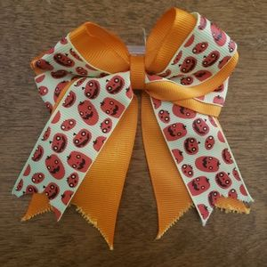 Other - Orange and yellow fall pumpkin hair bow